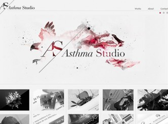 screenshot du site : Asthma Studio