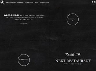 screenshot du site : Brand Almanac