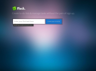 screenshot du site : Flask