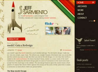 screenshot du site : JeffSarmiento