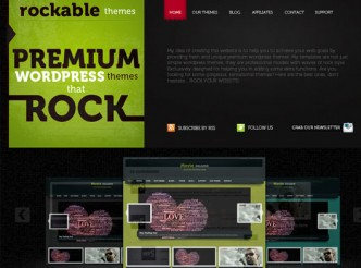 screenshot du site : Rockable Themes